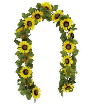 Blooming Autumn 66'' Sunflower Chain Garland-Yellow