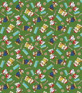 Christmas Nick Junior Paw Patrol Fleece Fabric-Merry Christmas