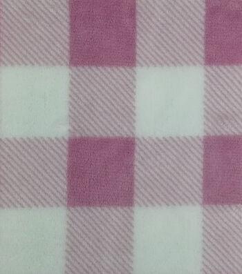 Sew Lush Fabric -Blush Buffalo Check