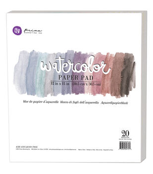 Prima Marketing 20ct 12''x12'' Watercolor Cold Press Paper Pad