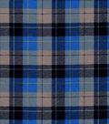 Snuggle Flannel Fabric -Skylar Navy Blue Plaid