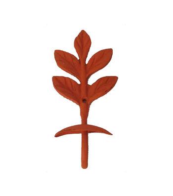 Simply Autumn Metal Leaf Hook-Orange