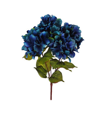 Blooming Autumn Hydrangea Bush-Dark Blue