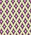 Keepsake Calico Cotton Fabric-Pink Garden Floral Stripe