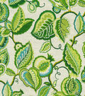 Waverly Print Fabric-Fantasy Fleur/Jade