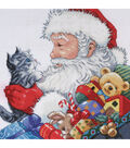 Design Works Counted Cross Stitch Kit Santa & Kitten