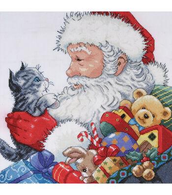 Design Works Counted Cross Stitch Kit Santa & Kitten