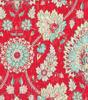"Waverly Multi-Purpose Decor Fabric 54""-Bartlett Place Strawberry"