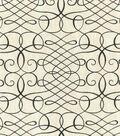 Waverly Upholstery Fabric 54\u0022-Calligraphy Swirl Ink