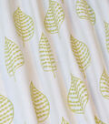 PKL Studio Multi-Purpose Décor Fabric-Elm Embroidered Leaf
