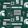 Michigan State Spartans Fleece Fabric-College Patches