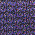 Ember Knit Prints Double Brushed Fabric-Purple Wavy Geo