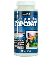 DecoArt Clear Poring Top Coat-16 oz., , hi-res