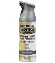 Rust-Oleum Universal Aged Metallic Paint & Primer-Weathered Steel, , hi-res