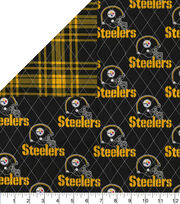 Pittsburgh Steelers Double Faced Quilt Fabric, , hi-res