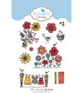 Elizabeth Craft Designs 10 pk Clear Stamps-Laundry Party