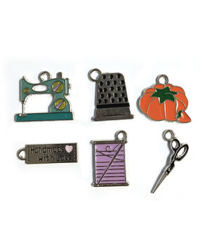 Blue Moon Beads Charm Set Sewing Machine and Notions Silver