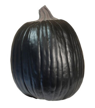 Fun-Kins Halloween 14'' Carvable Pumpkin-Black
