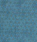 Vintage Cotton Fabric 43\u0022-Raindrop Floral Light Blue