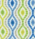 Waverly Upholstery Fabric-Optical Delights/ Capri