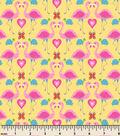 Snuggle Flannel Fabric -Flamingo In Love