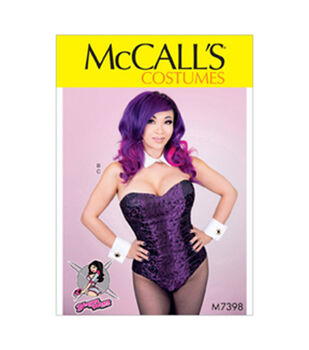 McCall's Pattern M7398 Misses' Corseted Bodysuit, Collar, Cuffs & Tail