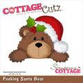 CottageCutz Die-Peeking Santa Bear 2.9\u0022X1.8\u0022