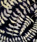 Velvet Burnout Fabric 54\u0022-Black Green Fern