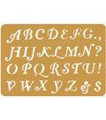 Darice 3-1/4\u0022x2-1/4\u0022 Brass Embossing Stencil-1PK/Letters