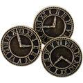 Steampunk 8 pk Clock Buttons-Antique Gold