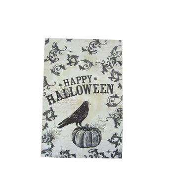 Maker's Halloween 12''x18'' Flag-Happy Halloween & Crow