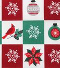 Christmas Cotton Fabric-Cardinal Ornament