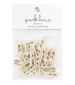 Park Lane 35 pk Mini Clothespins-Natural
