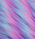 Fashion Faux Fur Fabric 59\u0022-Blue, Purple & Pink