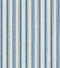 Waverly Upholstery Fabric-Classic Ticking Denim