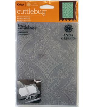 Cricut Cuttlebug Anna Griffin Diamond Flourish 5x7 Embossing Folder