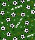Snuggle Flannel Fabric-Kick It Soccer