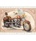 Harley Davidson Stamped Cross Stitch Kit 14 Count