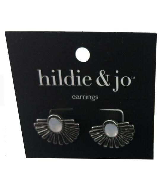 hildie & jo Fan Antique Silver Earrings, , hi-res, image 1