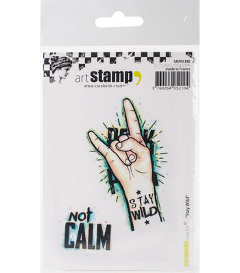 Carabelle Studio 2 pk A7 Cling Stamps-Stay Wild