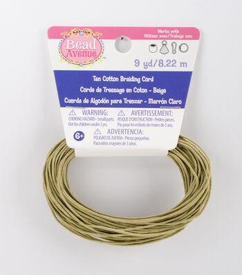 Bead Avenue Cotton Braiding Cord 9 yds-Beige