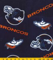 Denver Broncos Fleece Fabric -Tossed, , hi-res