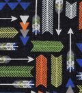 Snuggle Flannel Fabric -Blue & Green Arrows
