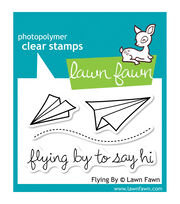"Lawn Fawn Clear Stamps 3""X2""-Flying By, , hi-res"