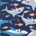 Blizzard Fleece Fabric-Shark Friends
