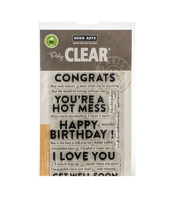 Hero Arts 23 pk Poly Clear Stamps-Snarky Mix & Match