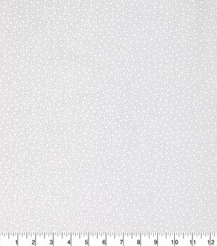 Keepsake Calico Cotton Fabric -White Tossed Dots