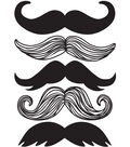 Wall Pops Mustache Wall Art Decal Kit, 5 Piece Set