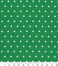 Quilters Showcase Cotton Fabric-Triangle Green