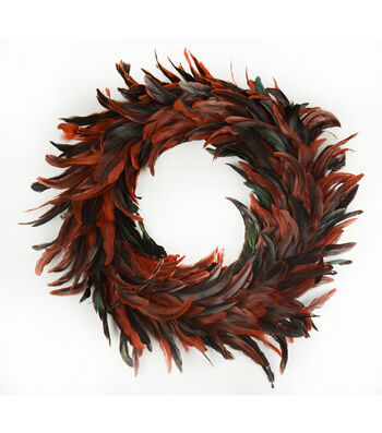 Blooming Autumn Feather Wreath